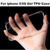 500PCS DHL Freeshipping Transparent Tpu soft Gel Case For iphone 5 5S