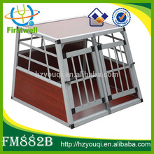 large double door pet kennels aluminum dog cage for sale