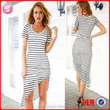 Sexy Girl Image For Women Long Dress New Lady Fashion Dress With Stripe