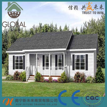 New model light steel structure prefab villa made in China