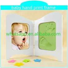 2015 new baby hand print frame keepsake footprint design poly velvet