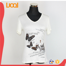 lagos V-neck slim fit white T Shirt design