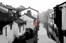 The Chinese Old Town Chinese Digital Oil Painting