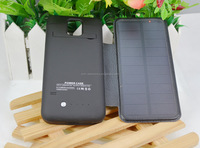 Hot selling solar battery case for Sam sung S5, promotion gift solar case charger, 2015 new arrival solar case, green energy