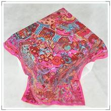 las mujeres de moda sarga de seda pañuelo árabe hijab