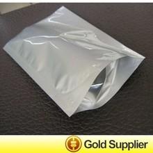 custom side sealed aluminum bags metallic bag silver pouch
