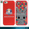 silk screen printing lovely pattern custom animal silicon case for iphone 5