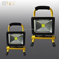 Hot Mini Cheap Aluminum emergency battery powered 10w rechargeable led flood light 6hours work time