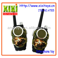 2Pcs Camouflage Color Kids Plastic Interphone Toy Walkie Talkie Toy