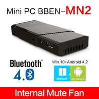 Bben MN2 Mini pc with 2gb ram 32GB rom MS Win 10 + Android 4.2 smart tv box External wifi Bluetooth dongle