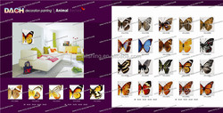 Animal wall picture/whoesale glass animal wall painting picture/butterfly wall painting picture