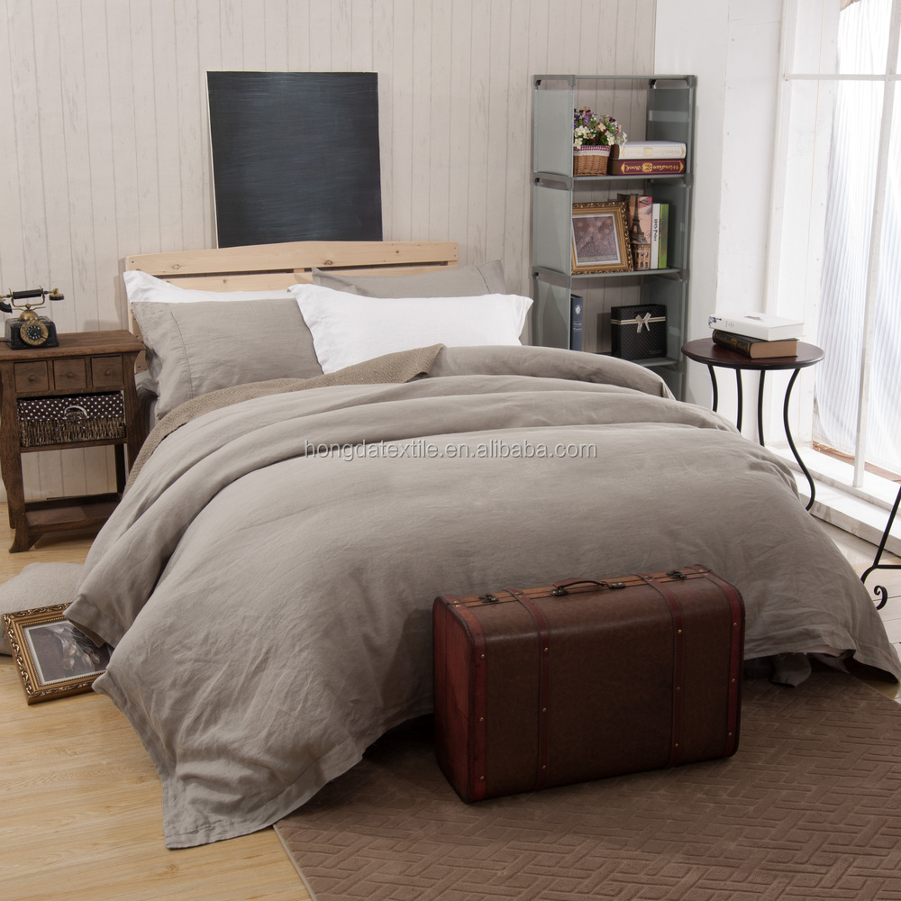 Stone Washed Flax Linen Bedding Set 6 ...
