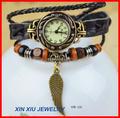 original da asa charme metal couro unisex relógio moda