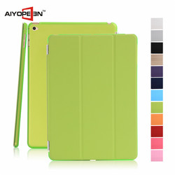 Wholesale Colorful Smart PC+PU Leather Case Flip Cover wtih Tiripled tablet case for mini 4