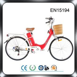 Rohs FCC DOT CE-approved classical model china cheap assist city lady electric road bike