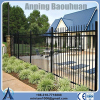 High quality villa security fence square picket steel tube fence ISO certificate