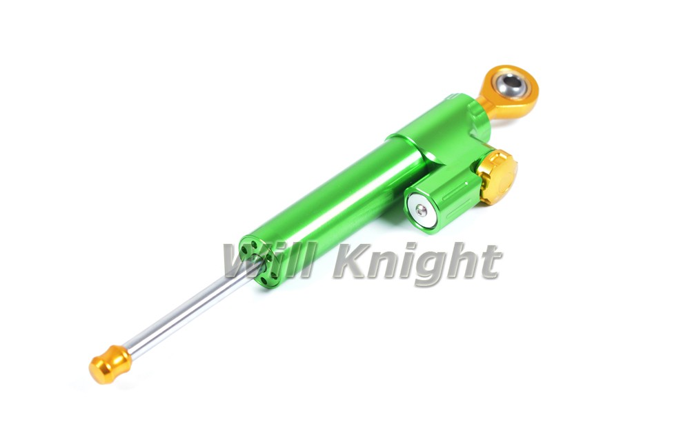 Gold Universal Motorcycle Adjustable Steering Damper Stabilizer Parts Aluminm