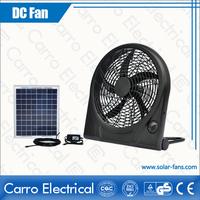 High speed small table top 12 inch sloar dc plastic fan