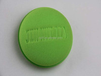 the hot wholesale round green car polish sponge in Shenzhen