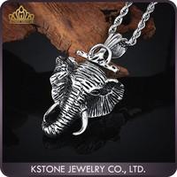 KSTONE 2015 Popular Hot Selling stainless steel elephant head pendant