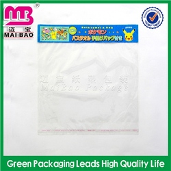 glamour design printed printed bopp bag with header and opp plastic bag