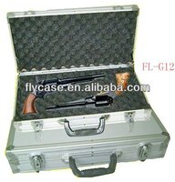 2013 new style leather gun case with foam and sponge inside