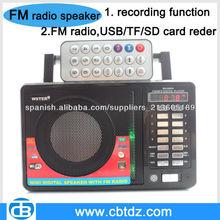 locutor de radio digital portátil con grabador