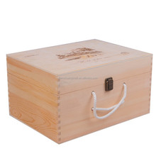 6 bottle wine case made of wood