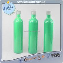 unique design 750ml alcohol aluminum bottle wholesale price
