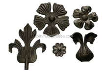 beautiful and nature wrought steel ornamentals cast iron accessories
