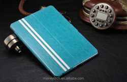 two folding leather flip case for ipad mini with standing function