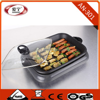 Hot Dog and dumpling Frying Electric Grill With Power Base And Tempered Glass Lid