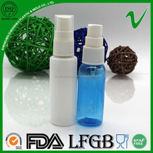 transpraent empty top quality spray plastic bottles smart collection perfume
