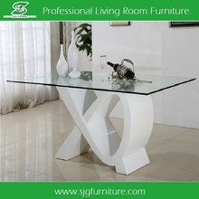 Modern MDF and Tempered Glass Dining Table