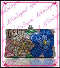 Aidocrystal blink rhinestone bag for party pure handmade