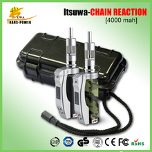 Alibaba China Supplier 4000mah Itsuwa Chain reaction 50 watt from American engineers big battery mod e cigarette