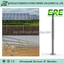PV fastener hardware Q235 solar galvanized Helical Screw Piles