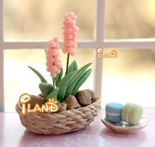 Mini Artificial Hyacinth Doll house Fairy Garden Flower / Plant Miniature Flower OP007B