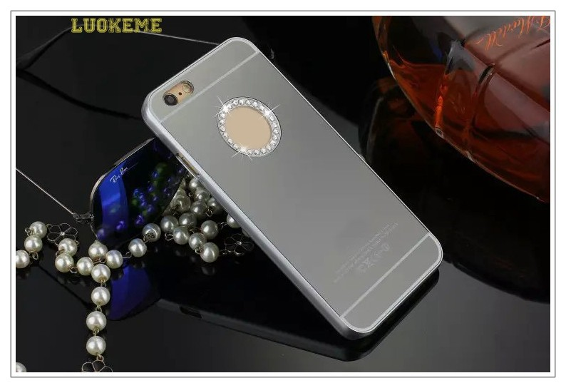 Ultra thin mirror pc phone case for apple 6 for iphone for Mirror your phone to pc