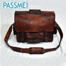 High Class Men Italian Real Leather tote Laptop Briefcase Shoulder Bag Messenger