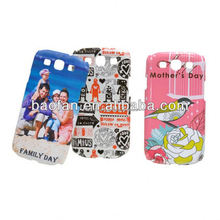 3D blank sublimation mobile cover for samsung galaxy S3