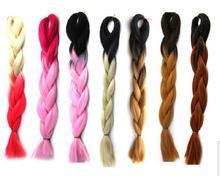 synthetic hair ombre color jumbo braiding hair