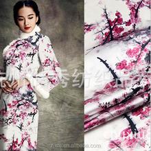 100% silk satin fabric apparel fabrics/Digital processing of printed silk fabrics