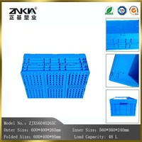 48L Plastic foldable Crates with lid for storage use