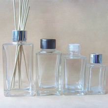 Rectangular empty reed diffuser glass bottle with cap