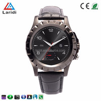 2015 Factory cheap price of smart watch phone A8 leather stainless steel strap android smart watch support IOS mobile phone