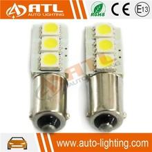 Hot saleT10,BA9S auto led width lighting, 3SMD, 12V 1.8-2.0W CANBUS auto led width lamp, non-polarity automobile led bulb