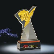 suministro de imágenes de cristal trofeo de cristal equipo ganador trofeo