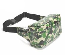 hot selling fashion camouflage sport hip belt bag with pocket moneybelt manufacturer