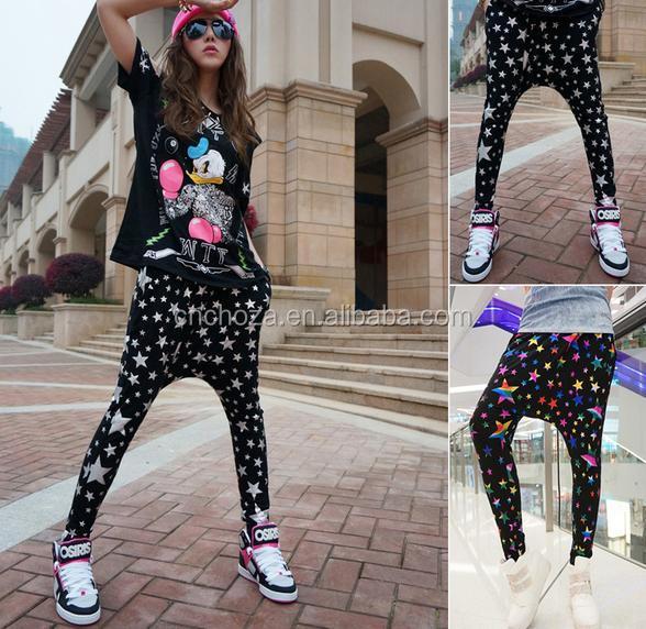 Model New Fashion Brand Jazz Harem Women Hip Hop Pants Dance Ds Costume